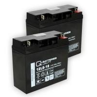 Ersatzakku für Brandmeldezentrale ABB BZK20 2 x AGM Batterie 12V 18Ah mit VdS