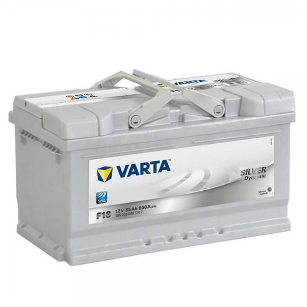 VARTA F18 Silver Dynamic 12V 85Ah 800A Autobatterie 585 200 080