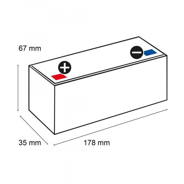 SSB SBL SB 2.3-12 AGM Batterie 12V 2,3Ah (C20)