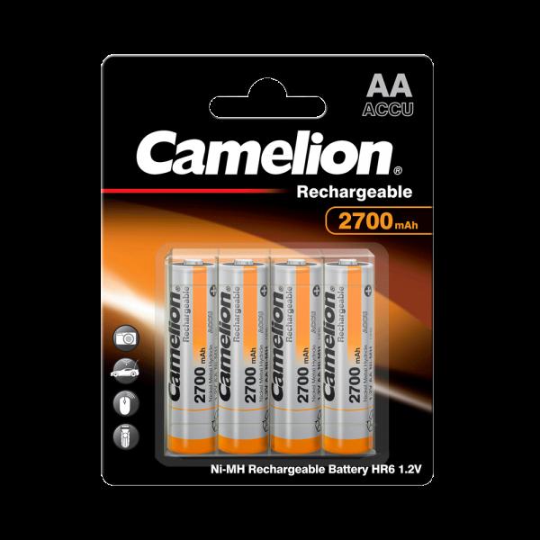 Camelion Akku Mignon AA 2700mAh NiMH + Box (4er Blister)