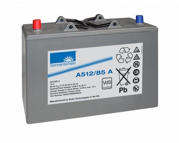 Exide Sonnenschein A512/85 A VdS 12V 85Ah dryfit Blei-Gel-Akku VRLA