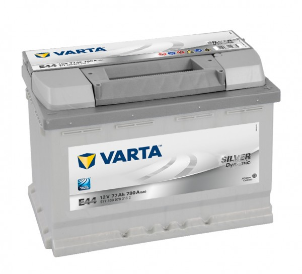VARTA E44 Silver Dynamic 12V 77Ah 780A Autobatterie 577 400 078