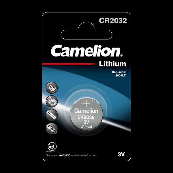 Camelion CR2032 Lithium Knopfzelle (1er Blister) UN3090 - SV188