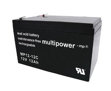 Multipower MP12-12C / 12V 12Ah Blei Akku Zyklentyp