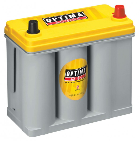 Optima Yellow Top YT R - 2.7, 12V 38Ah, AGM Zyklenfest, Spiralcell Technologie