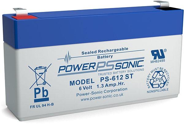 Powersonic 6V 1,3Ah Blei-Vlies Akku AGM VRLA PS 612 ST