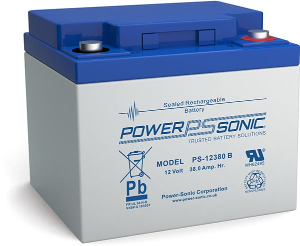 Powersonic 12V 38Ah Blei-Vlies Akku AGM VRLA PS 12380 VdS