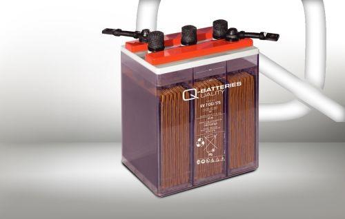 Q-Batteries 12V 2 OGi 50 66AHh (C10) stationäre OGi-Batterie mit flüssigem Elektrolyt