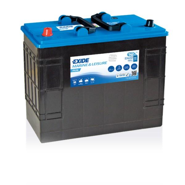 Exide ER650 Dual 12V 142Ah Starterbatterie und Versorgungsbatterie